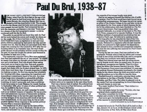 Paul DuBrul 1938-87